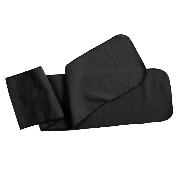 """Шарф """"Мontana"""", 160х20 см, черный, флис, 250 гр/м2"""