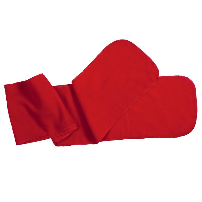 """Шарф """"Мontana"""", 160х20 см, красный, флис, 250 гр/м2"""