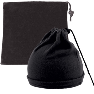 """Шапка-шарф с утяжкой """"Articos"""", универсальный размер, черный, флис, 200 гр/м2"""