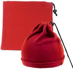 """Шапка-шарф с утяжкой """"Articos"""", универсальный размер, красный, флис, 200 гр/м2"""