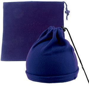 """Шапка-шарф с утяжкой """"Articos"""", универсальный размер, синий, флис, 200 гр/м2"""