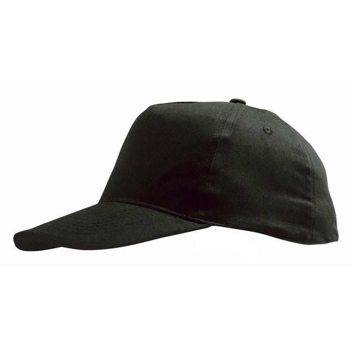 """Бейсболка """"Sunny"""" 5 клиньев, черный, 100% хлопок, 180г/м2"""