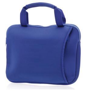 Сумка для ноутбука; синий; 28х22х2,5 см.; нейлон, полиэстер, спандекс; шелкография