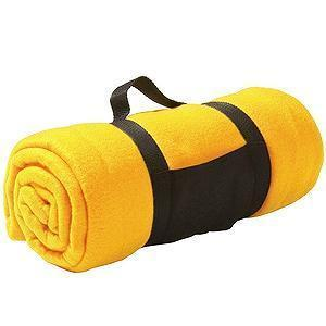 "Плед ""Color""; желтый; 130х150 см; флис 220 гр/м2; шелкография, вышивка"