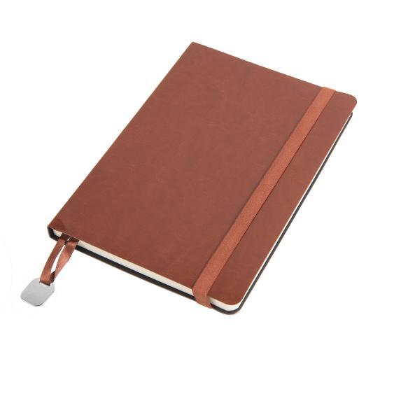 Ежедневник недатированный Boomer, А5,  коричневый, кремовый блок, без обреза