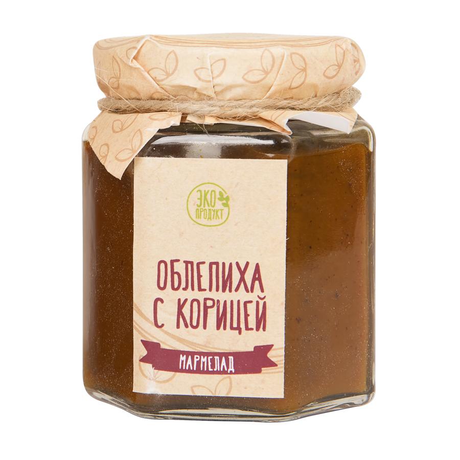 """Варенье-мармелад  """"Облепиха с корицей""""; натуральный; диаметр 7 см."""