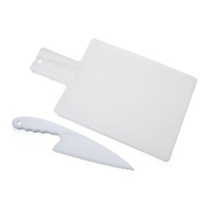 "Набор кухонный ""Шеф-повар"": разделочная доска и нож; 38х21,3х0,2 см; пластик; тампопечать"