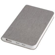 """Универсальное зарядное устройство """"Provence"""" (4000mAh),светло-серый,7,5х12,1х1,1см, искусственная ко"""