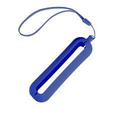 """Обложка с ланъярдом к зарядному устройству """"Seashell-1"""", синий,силикон"""