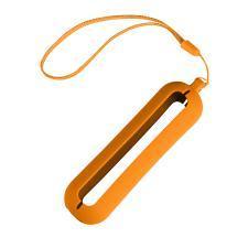 """Обложка с ланъярдом к зарядному устройству """"Seashell-1"""", оранжевый, силикон"""