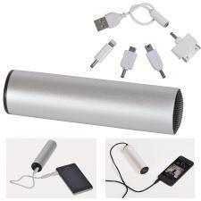 """Универсальное зарядное устройство """"Soundcheck"""" (2200mA) с динамиком,L=12,5см,D=3,3см,металл,пластик"""
