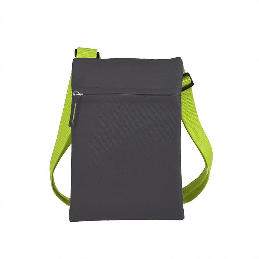 """Сумка для документов """"ACTIVE"""" с карманом на молнии,  зеленый, 18х24 см, полиестер,  шелкография"""