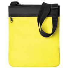 """Промо сумка на плечо """"Simple""""; желтый; 23х28 см; полиэстер; шелкография"""
