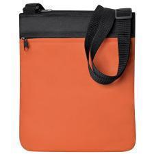 """Промо сумка на плечо """"Simple""""; оранжевый; 23х28 см; полиэстер; шелкография"""