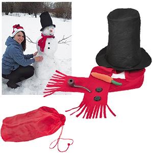 """Набор для лепки снеговика  в сумке """"Веселый снеговик"""", флис, пластик,  шелкография"""