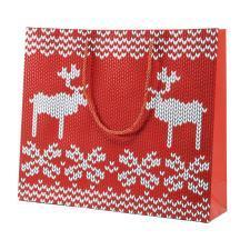 """Пакет  большой """"Oh my deer"""", 43*32*11 см, флокированный"""