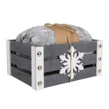 Плед новогодний GIFTв подарочной коробке, 125*155 см, велсофт, дерево