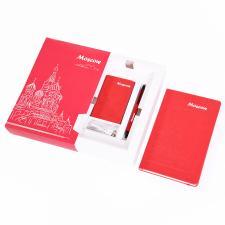 Набор  POWER BOX: универсальное зарядное устройство (4000mAh), блокнот и ручка в подарочной коробке