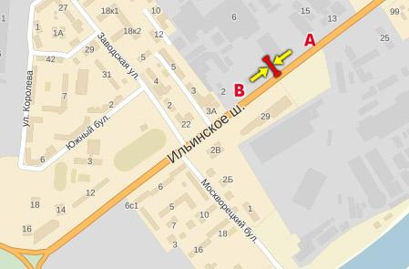 Ильинское ш красногорский р-н ильинское шоссе, красногорск, 1,7 км от развилки с волоколамским ш, правая сторона