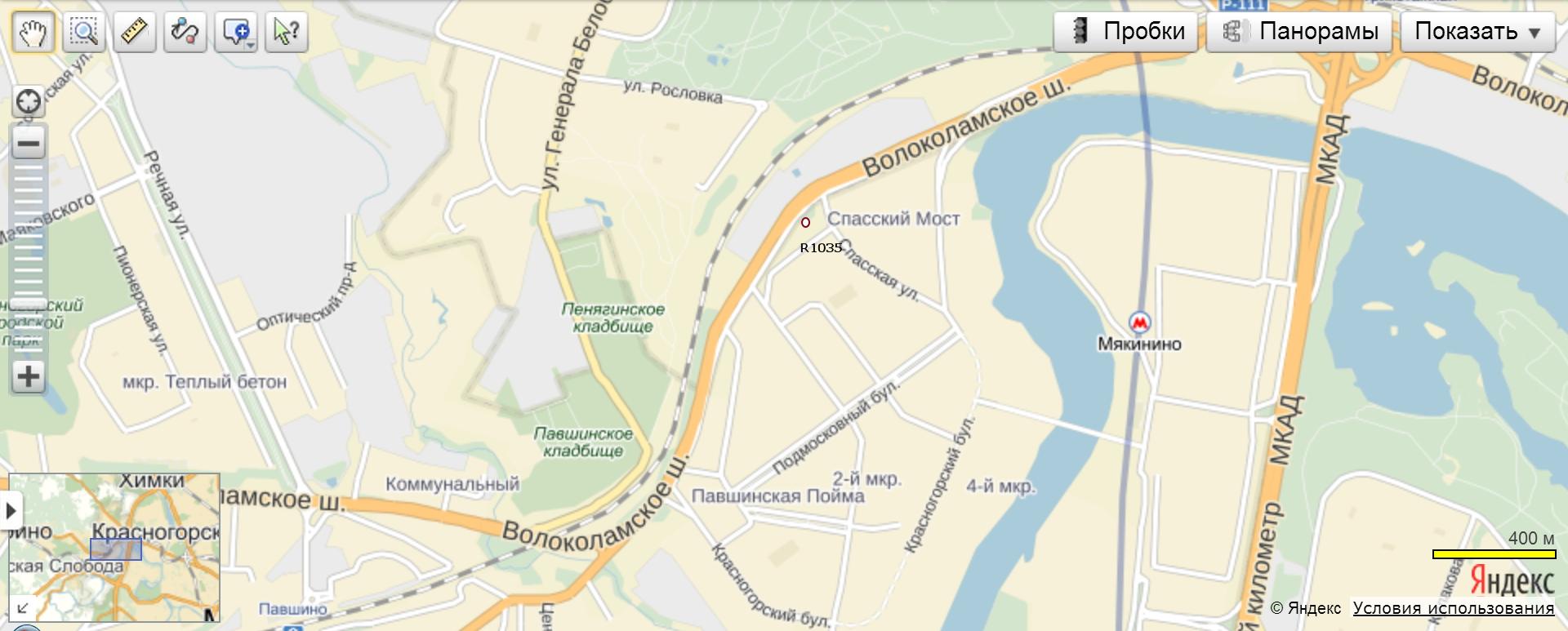 На волоколамском шоссе за мостом (пересечение с ул свободы) в тушинском тоннель под каналом им