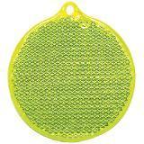 Пешеходный светоотражатель «Круг», неон-желтый