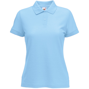 "Поло ""Lady-Fit 65/35 Polo"", небесно-голубой_XS, 65% п/э, 35% х/б, 180 г/м2"