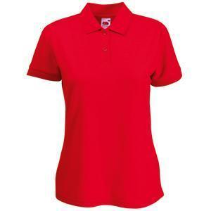 "Поло ""Lady-Fit 65/35 Polo"", красный_L, 65% п/э, 35% х/б, 180 г/м2"
