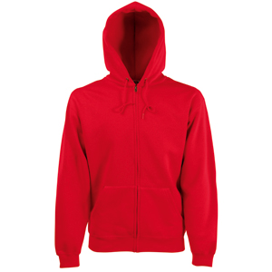 "Толстовка ""Zip Through Hooded Sweat"", красный_2XL, 70% х/б, 30% п/э, 280 г/м2"