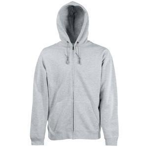 "Толстовка ""Zip Through Hooded Sweat"", серо-лиловый_XL, 70% х/б, 30% п/э, 280 г/м2"