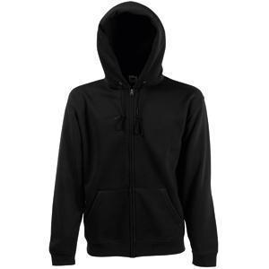 "Толстовка ""Zip Through Hooded Sweat"", черный_S, 70% х/б, 30% п/э, 280 г/м2"